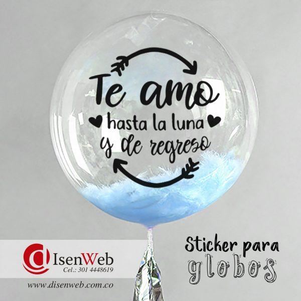 Sticker te amo hasta la luna